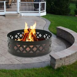 Zeny 90cm Heavy Duty Crossweave Campfire Fire Pit Ring. Free Delivery