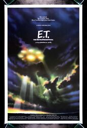 ET THE EXTRA-TERRESTRIAL ORIGINAL 1982 ADVANCE SCI-FI ONE SHEET MOVIE POSTER