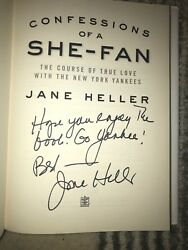 Jane Heller Autographed Book Confessions of a She-Fan New York Yankees Signed