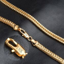18k Yellow Solid Gold Filled Chain Necklace 20
