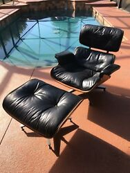 Herman Miller Eames 1960's Vintage Lounge Chair and Ottoman Brazilian Rosewood