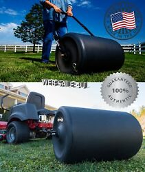 Tow Behind Lawn Roller Push Yard Grass Care Tractor Attachment Poly Water USA