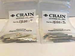 TWO (2) CRAIN CUTTER #1500-S  10 PACKS OF PIN PLATE PINS FOR #499
