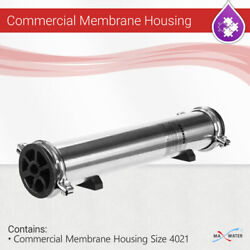 Max Water Stainless Steel Reverse Osmosis Commercial Membrane Housing 4021