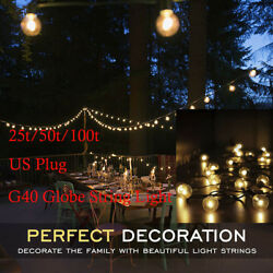 2550100 Bulbs G40 Filament Outdoor Patio Globe String Lights Party Light