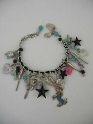 Erickson Beamon Skull Heart Knife Star Unicorn Scissors Chain Charm Bracelet