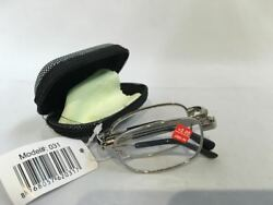 Folding Reading Glasses Metal frame with  case strength +2.00-3.50 $6.50