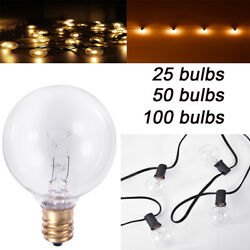 100FT 50FT 25FT G40 Light Bulb String Lights Outdoor Patio Decorative Lights