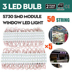 3 LED Bulbs 20 Pcs 50 Strings Window Store Front Light Patio Outdoor 1000PCS