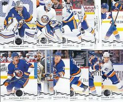 NEW YORK ISLANDERS 2018-19 18-19 UPPER DECK SERIES 1 & 2 TEAM SET (13) BARZAL +