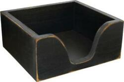 Rustic Country Distressed Black Wood Napkin Holder $24.75