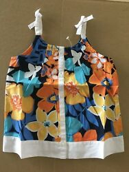 New Gymboree Tropical Bloom Girl's Surf Club Size 4 4t 24.95 top dress shirt