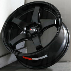 17x8 Flat Black Wheels XXR 555 5x1005x114.3 35 (Set of 4)