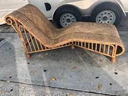 Ratan Day Bed or Chaise Lounge Lounger