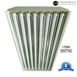 T8 LED High Bay Warehouse Shop Commercial Light 8 Lamp Fixture USA MADE Bright