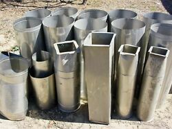 Stainless Steel Ventilation Ducting and Conectors Mixed Lot of 13 Sections