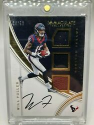 2016 Immaculate Collection Players Collection Materials Auto Will Fuller 50