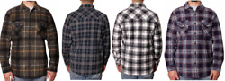 NEW Freedom Foundry Men#x27;s Button Up Super Plush Shirt Jackets Variety #109 $26.09
