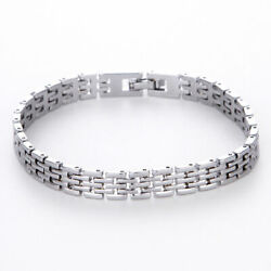 Fashion Men's Stainless Steel Chain Punk Link Bracelet Wristband Bangle Jewelry