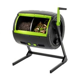 Composter Tumbler 65 Gal. 2 Stage in Black with Adjustable Built In Air Vents $223.50