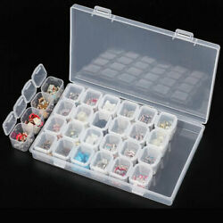25 Slots Plastic Storage Box Case Jewelry Bead Screw Organizer Container Clear