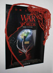 WOW War of the Worlds Prop Alien Signed TOM CRUISE SPIELBERG POSTER. DVD COA