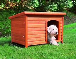 Dog House Wooden Stained Pet Raised Pen Kennel Backyard Puppy Shelter Kitty Barn $264.97
