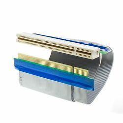 Flexible PCI Riser Slot Extender Ribbon Cable Adapter Expansion Cord $8.80
