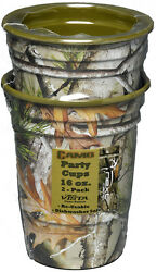 Next Camo Party 16oz Cups Set of 2 Plastic Cup Camouflage Birthday Wedding $9.95