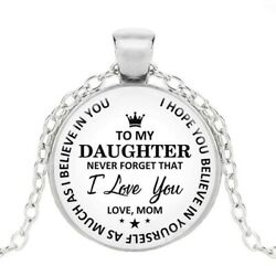Hot fashion classic to my daughter..love mom time gemstone pendant necklace