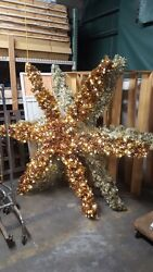 Commercial Christmas Decoration 7 ft. Lighted Garland Star for Church Winery etc