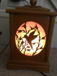 Wooden Lamp With Interchangeable Faces. Bird Pineapple Christmas Candle $29.00