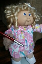 1986 shirley temple curls DESIGNER KIDS CABBAGE PATCH KIDS 16quot; doll coleco
