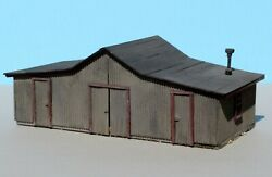 HO Illinois Central Scratch Built Wood Storage Shed -Plans from Model Railroader