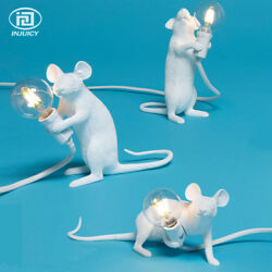 Resin Mouse Desk Lamps Industrial Animal Bedroom Table Light Cafe Decor $65.52