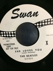 The BEATLES - SHE LOVES YOU - SWAN WHITE LABEL PROMO 45 - (1X) S-4152-S MINT!