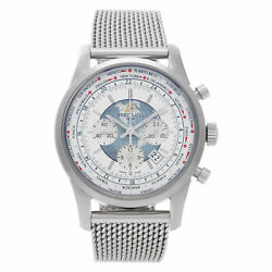 Breitling Transocean Chronograph AB0510 stainless steel White dial 46mm auto...