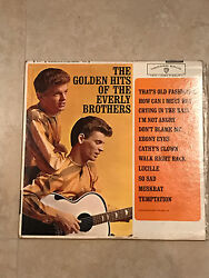 THE GOLDEN HITS OF THE EVERLY BROTHERS WS 1471 LP ALBUM 1962 Warner Brothers $5.25