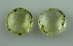 34.00 CT. UNTREATED EXOTIC YELLOW ROUND SHAPE 18 MM DCB PAIR OF GEM FREE SHIPPIN
