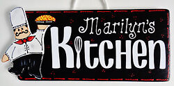 Personalize FAT CHEF KITCHEN SIGN Name Wall Plaque Cucina Bistro Italian Decor $14.45