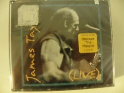 James Taylor (Live) SEALED 2 CD wHype Sticker Intact Shower the People Only One