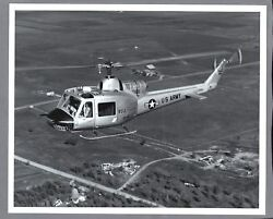 BELL HU 1A HELICOPTER LARGE VINTAGE ORIGINAL MANUFACTURERS PHOTO US ARMY $24.95