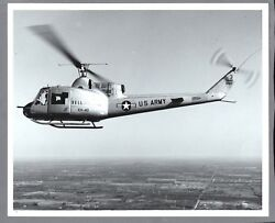BELL XH 40 HELICOPTER LARGE VINTAGE ORIGINAL MANUFACTURERS PHOTO US ARMY $24.95