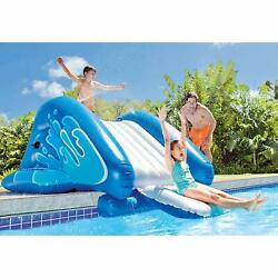 Water Slide Inflatable Play Center Sprinkler Backyard Water Park Splash Pad Kit