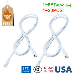 1-6FT T5 T8 Integrated LED Tube Light Connector Cables 3Pin Link Wires 4-24pcs $24.79