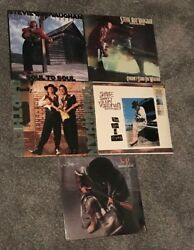 5 ORIGINAL STEVIE RAY VAUGHAN SRV LP BROTHERS NEW SEALED VINYL IN STEP + POSTER