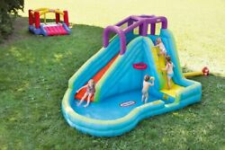 Kids Water Slide Inflatable Kiddie Pool Set Water Park Backyard Splash Pad 5-10y