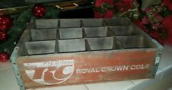 Vintage RC Royal Crown Cola Wood Crate 12 Bottle Soda Pop FREE US SHIPPING