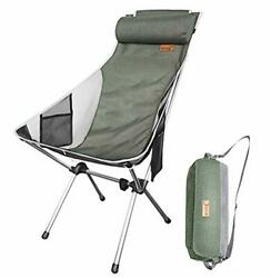 Ultralight High Back Folding Camping Chair With Headrest Outdoor Backpacking   $45.99