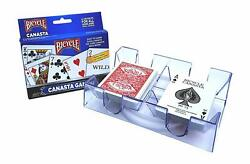 Bicycle 2-Pack Canasta Playing Card Games Point Value & Revolving Rotating Tray